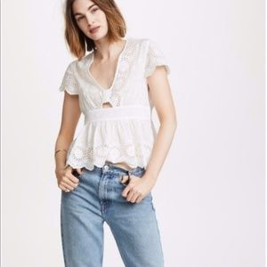FREE PEOPLE Truly Yours Eyelet Top